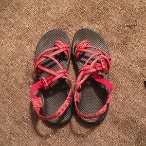 Red Chacos (Peach Bloom) from Festival Collection